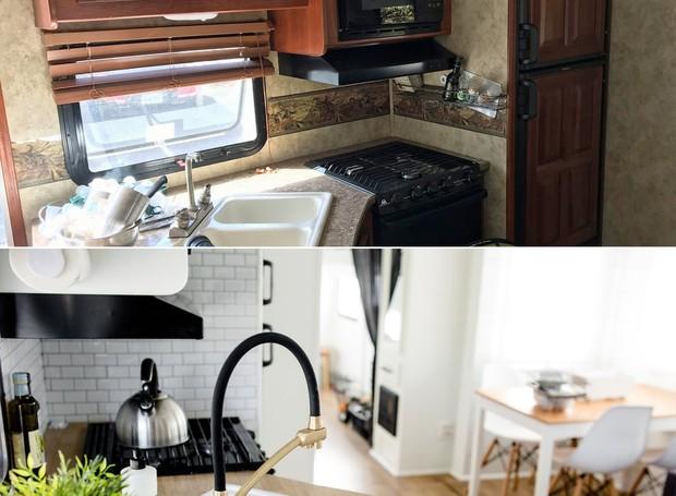 O estilo antigo foi substituído pela decoração escandinava (Foto: Brianne and Sean Walker/ Reprodução)