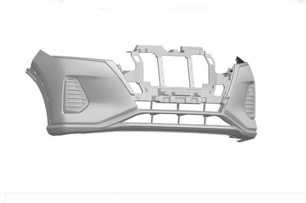 O para-choque dianteiro foi um dos desenhos registrados pela Nissan (Foto: Divulgação)