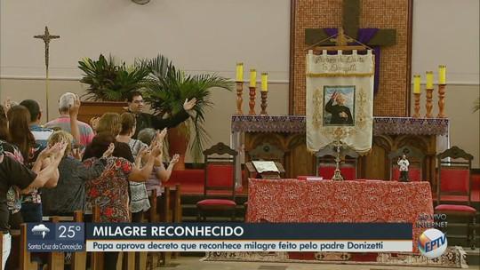 Fiéis de Tambaú comemoram reconhecimento de milagre de Padre Donizetti pelo Vaticano