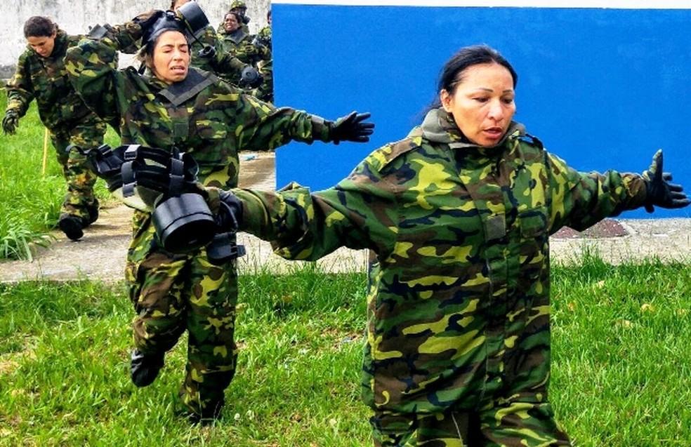 A tenente do Exército Silvia Nobre Waiãpi — Foto: Exército Brasileiro