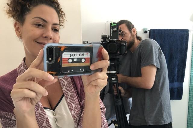 Fabiula Nascimento e Emilio Dantas gravam 'Amor e sorte' (Foto: Arquivo pessoal)