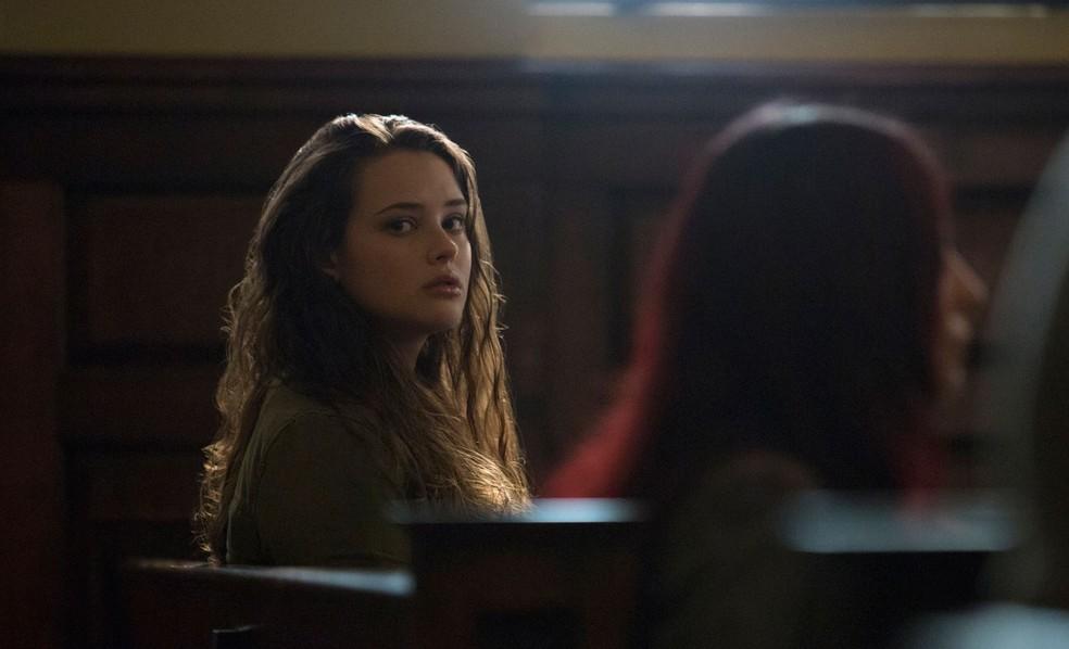 Katherine Langford interpreta a adolescente Hannah Baker em '13 reasons why' — Foto: Divulgação/Netflix