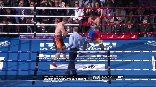 Jeff Horn supera Manny Pacquiao e leva cinturão dos meios médios