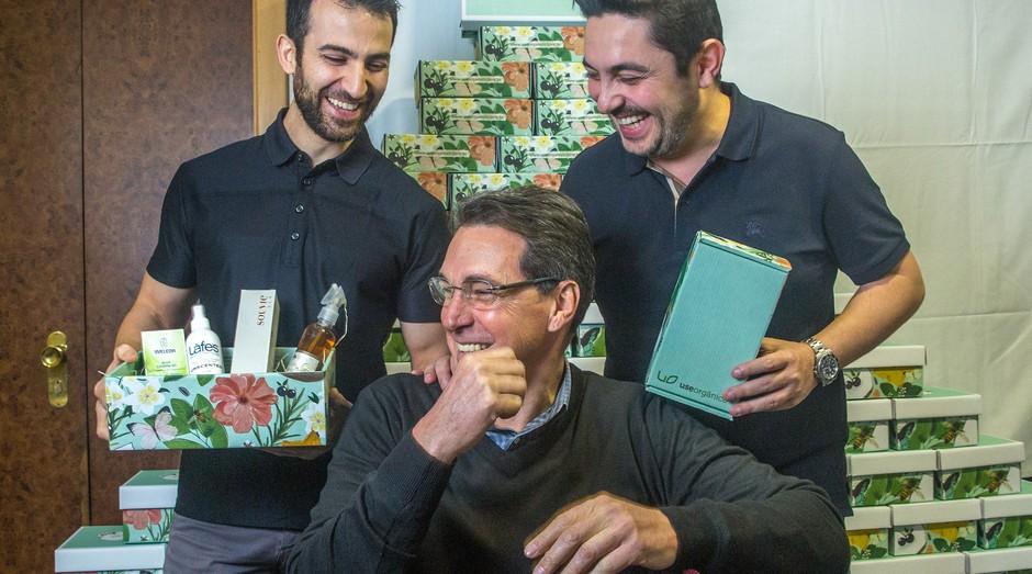 José Youssef, Valdir Vieira e Nizar Escandar (da esq. para a dir.), Use Orgânico (Foto: Jornal de Negócios Sebrae )