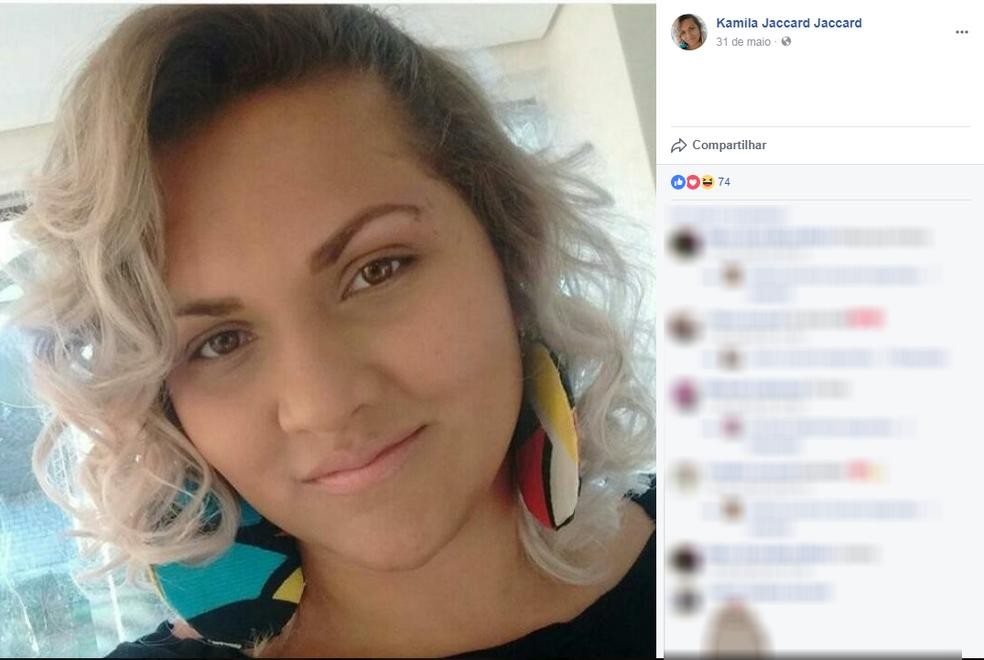 Kamila Jaccard foi baleada no próprio local de trabalho em Marília; Ex-marido é apontado como suspeito (Foto: Reprodução / Facebook)