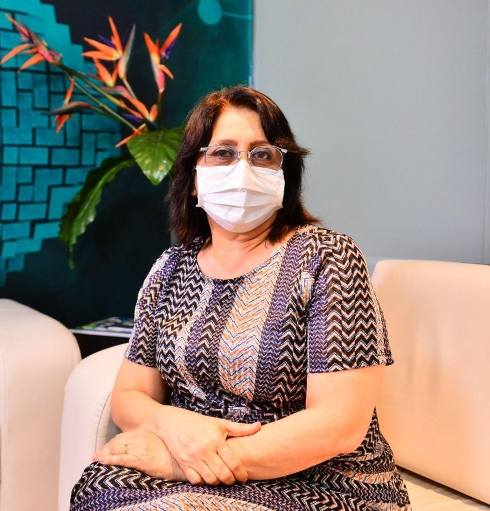 Rosemary Pinto, diretora-presidente da FVS-AM, morreu por complicações da Covid. — Foto: Divulgação