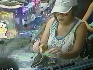 Mulher que levou bebê aparece em imagens de câmeras de segurança (Foto: Arquivo pessoal)