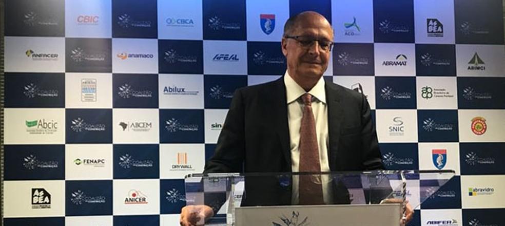 O candidato do PSDB à Presidência, Geraldo Alckmin (Foto: Fernanda Calgaro, G1)