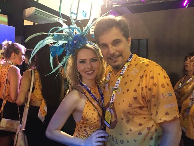 Edson Celulari e Karin Roepke (Foto: Thiago Camara/ QUEM)
