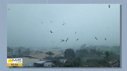 'Faltou pouco para ser um tornado. Tratou-se de uma nuvem funil', fala meteorologista sobre temporal em MS