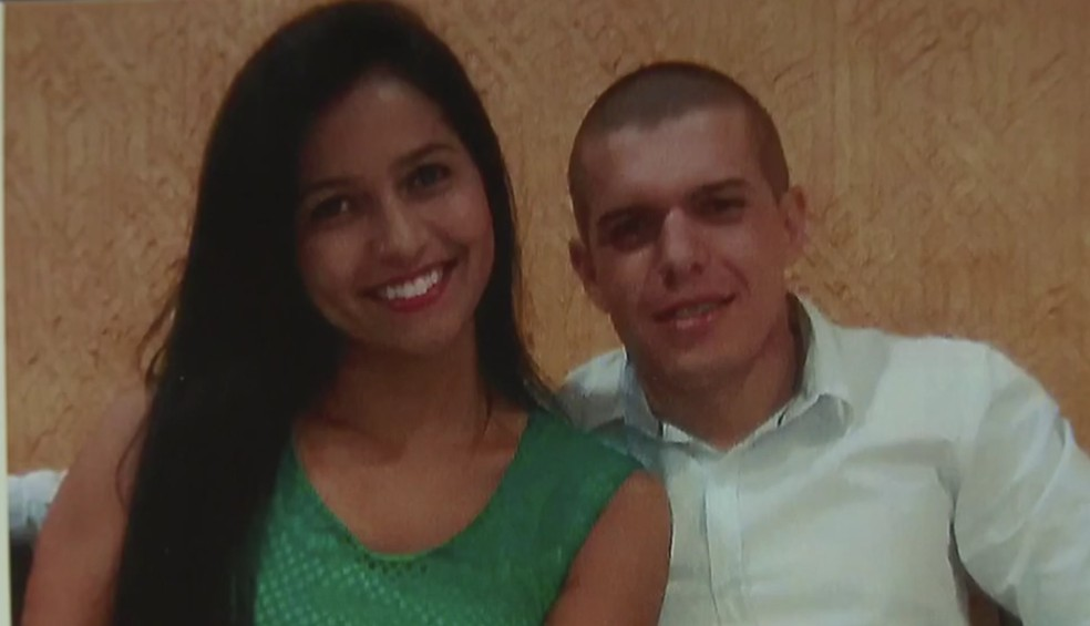 Policial militar Ronan Menezes Rego e a ex-namorada Jéssyka Laynara — Foto: TV Globo/Reprodução