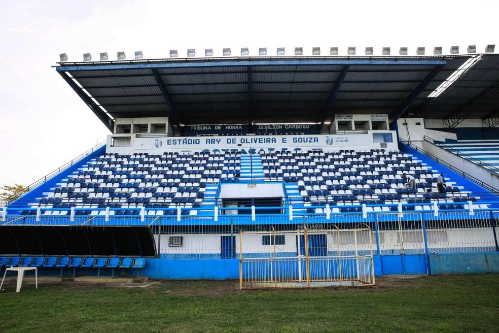 Estádio Ary de Oliveira, o Aryzão, vem recebendo reformas — Foto: Divulgação / Goytacaz