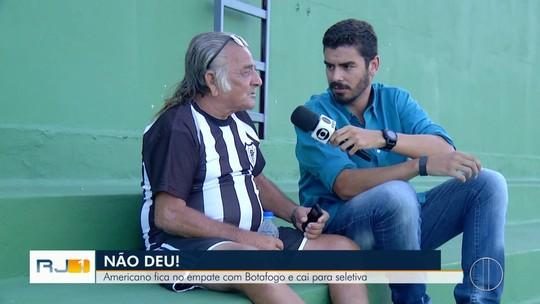 Americano x Botafogo: 90 minutos de emoções ao lado do Sr. Luiz, um torcedor solitário do Cano