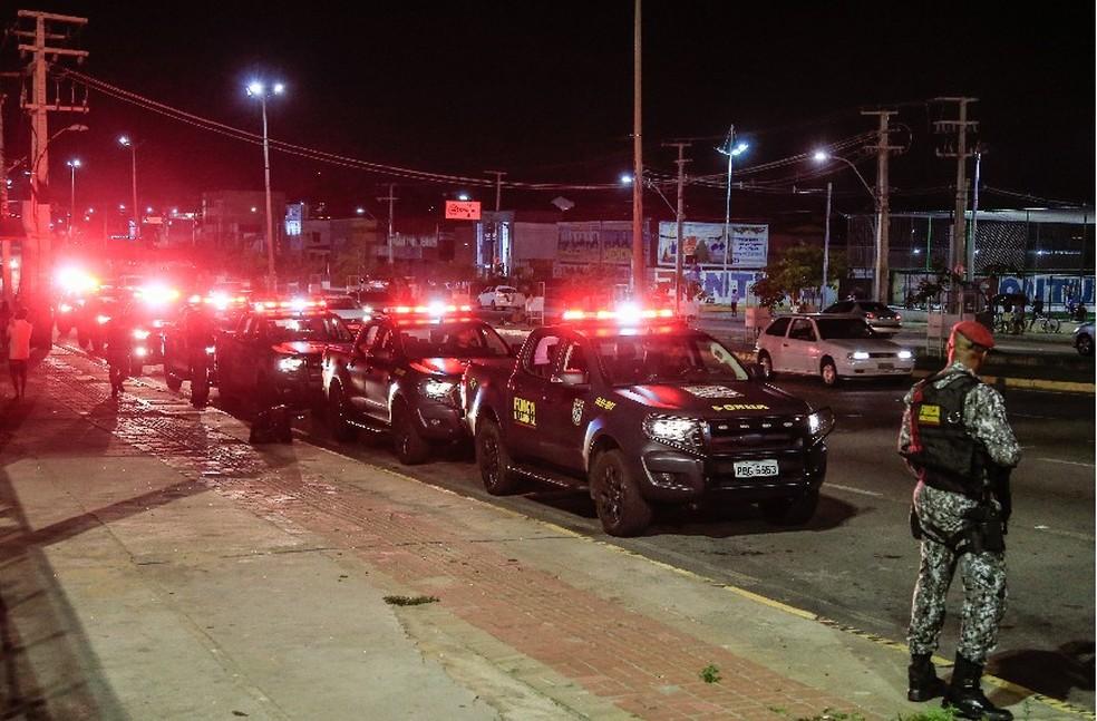 Força Nacional reforça a segurança no Ceará após série de ataques criminosos — Foto: Reprodução/DN