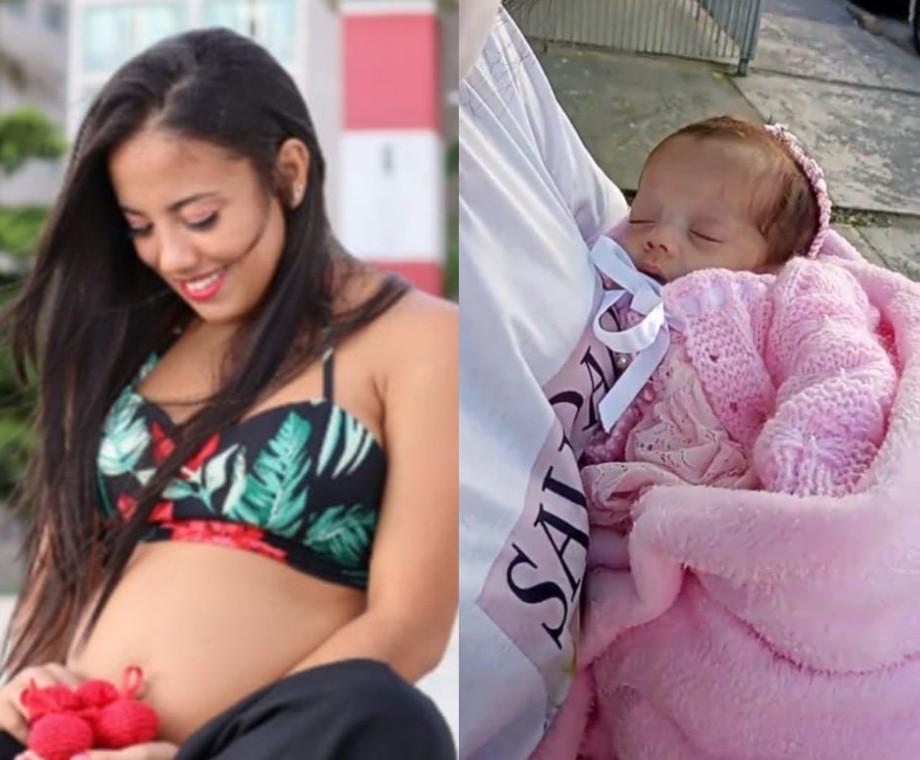 Filha de jovem que morreu de Covid-19 após parto tem alta depois de 2 meses internada; VÍDEO