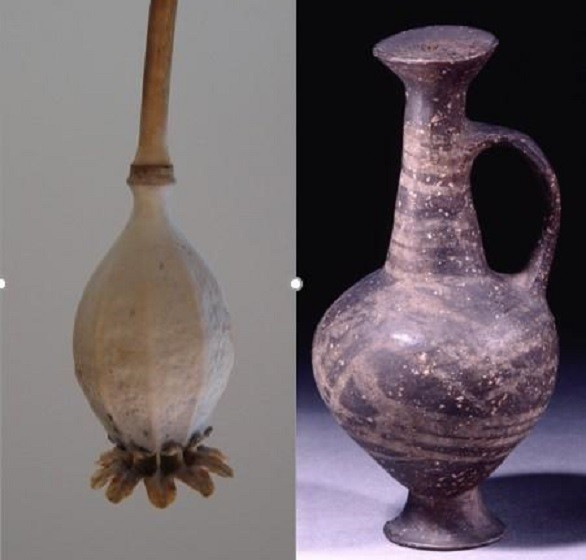 Jarra tem o formato da semente da papoula (Foto: Divulgação/British Museum)