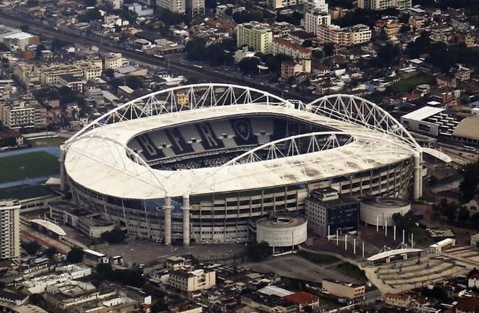 Estádio é ativo importante, mas sofre dificuldades — Foto: Vitor Silva/Botafogo