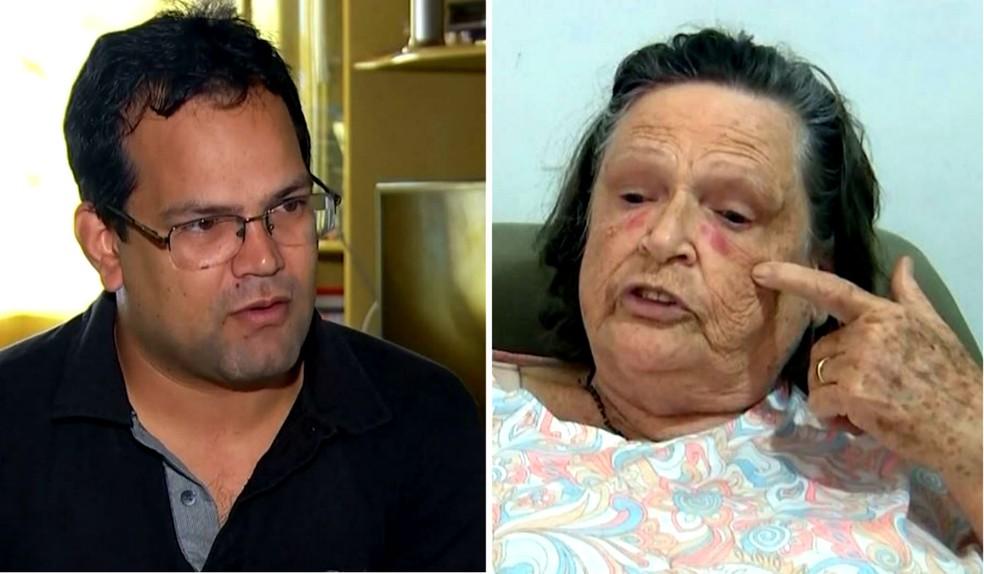 Alessandro Ramos e Luzia de Abreu são pacientes que esperam por cirurgias em Marília há anos (Foto: Reprodução / TV TEM)