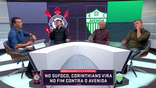 Comentaristas analisam o jogo entre Corinthians e Avenida pela Copa do Brasil