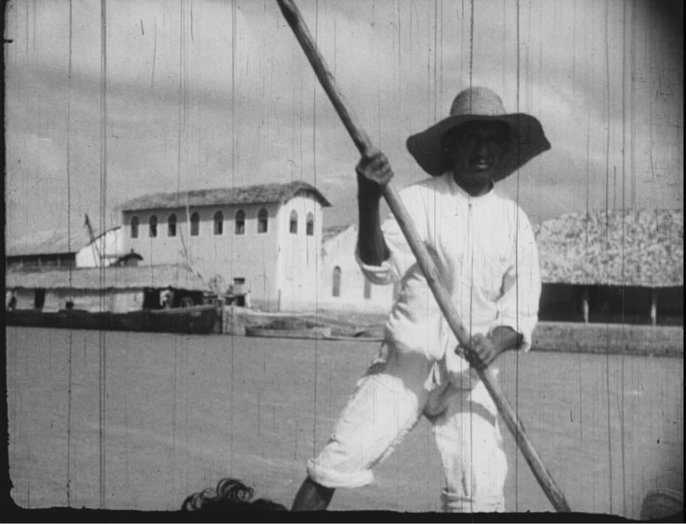 Porto das Barcas em Parnaíba no ano de 1940 — Foto: Imagens retiradas do Filme Parnahyba - as janelas olham devagar