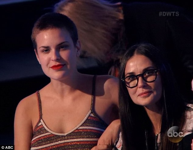 Demi Moore e Tallulah Willis (Foto: Reprodução / ABC)
