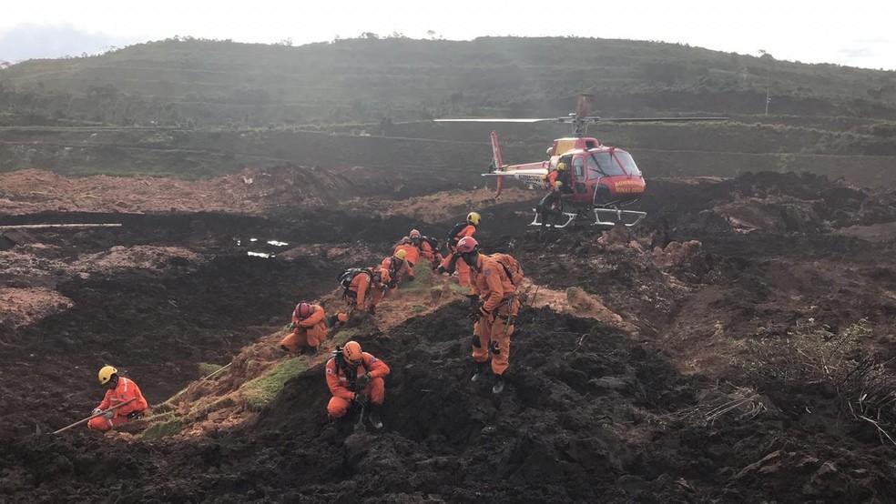 Imagem da operação de resgate — Foto: Divulgação/Bombeiros