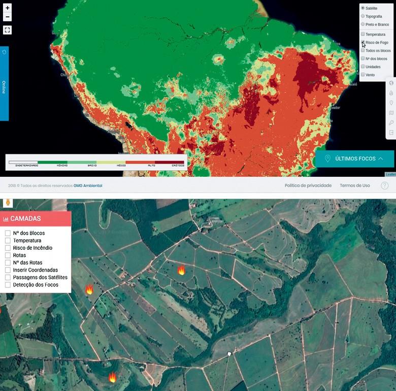 Imagem de satélite da GMG Ambiental (Foto: Divulgação)