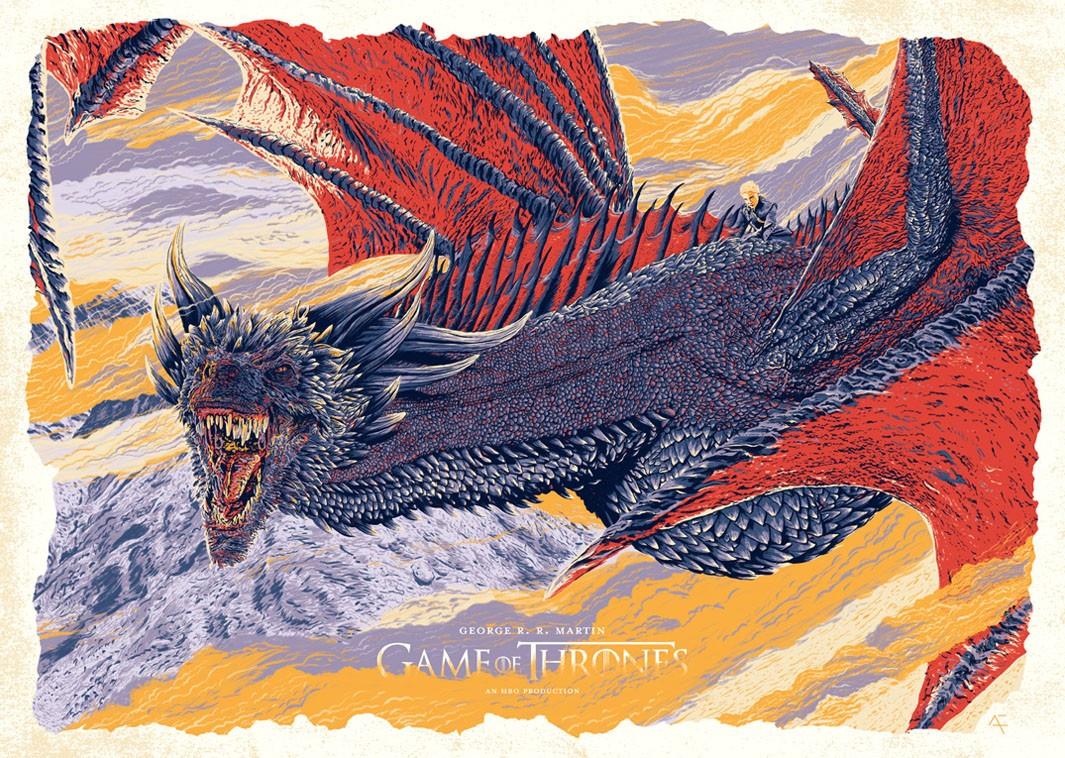 "Poster de ""Game of Thrones"" ilustrado por Amaury Filho (Foto: Amaury Filho/Behance)"