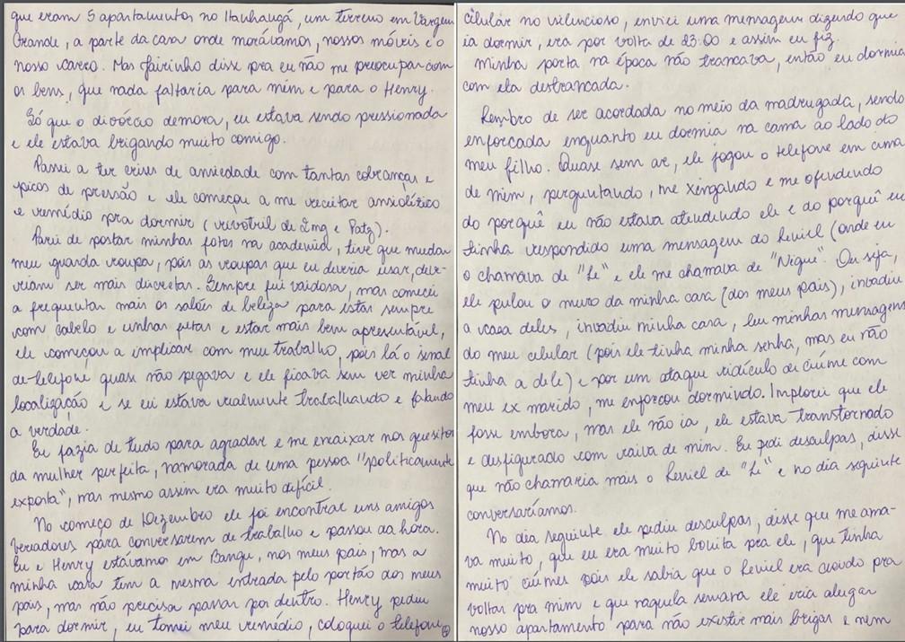 Caso Henry Borel: carta de Monique Medeiros (parte 4) — Foto: Reprodução