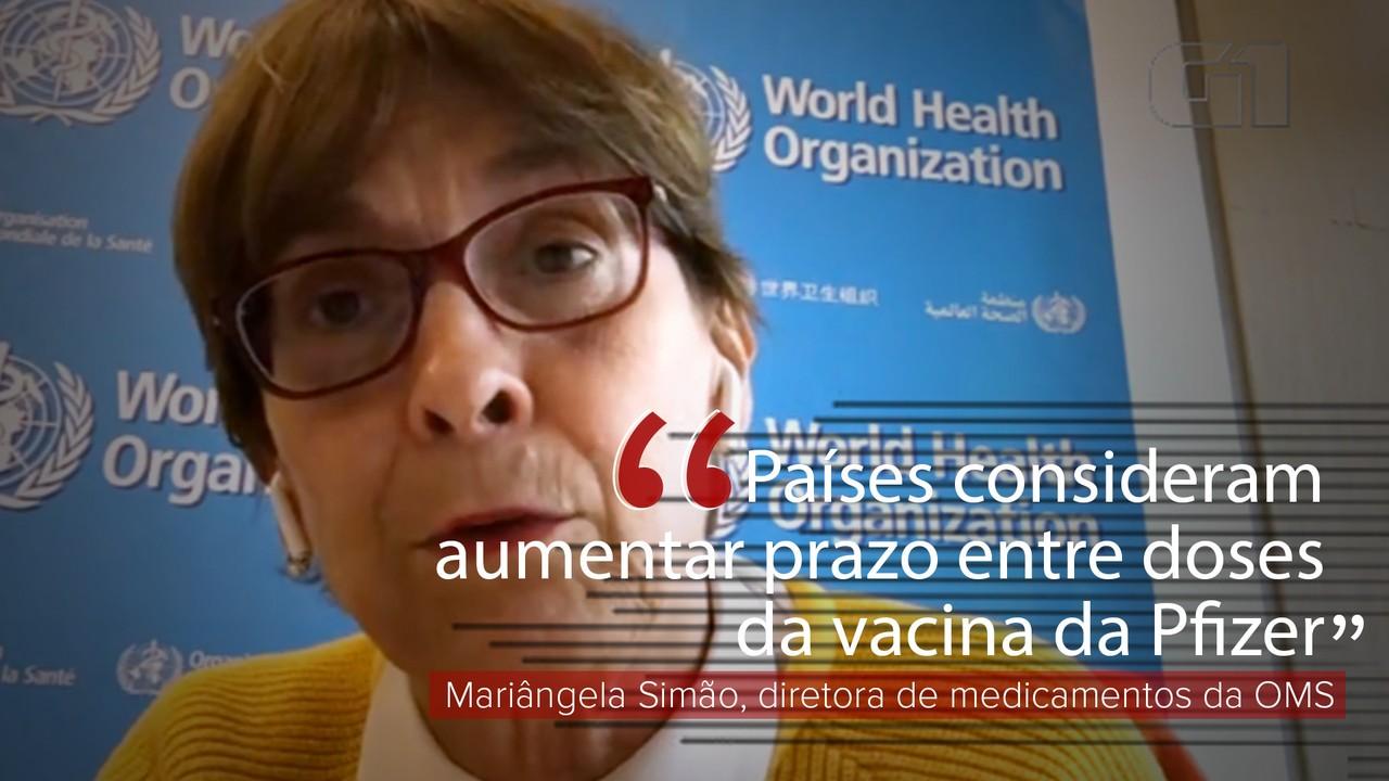 VÍDEO: Países consideram aumentar prazo entre doses da vacina da Pfizer, explica Mariângela Simão