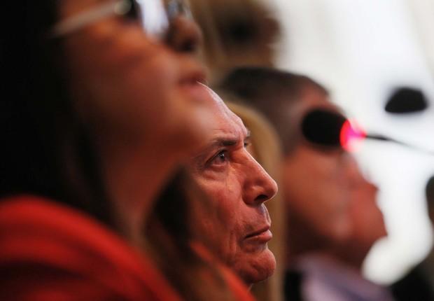 Presidente Michel durante encontro com líderes políticos de Roraima (Foto: Beto Barata/PR)