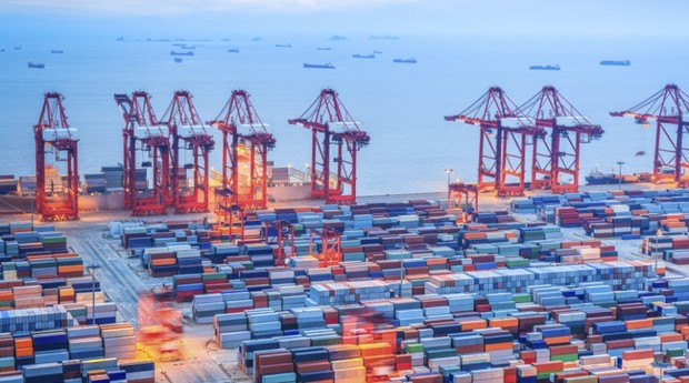 Porto de Xangai, na China; segundo a Athenas, software tem mercado no exterior (Foto: ThinkStock)