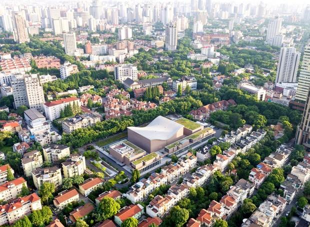 Shanghai Symphony Hall, em Xangai, na China (Foto: Reprodução/ Chen Hao)
