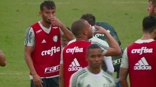 Edu Dracena sente, e Emerson Santos tem treino reforçado no Palmeiras
