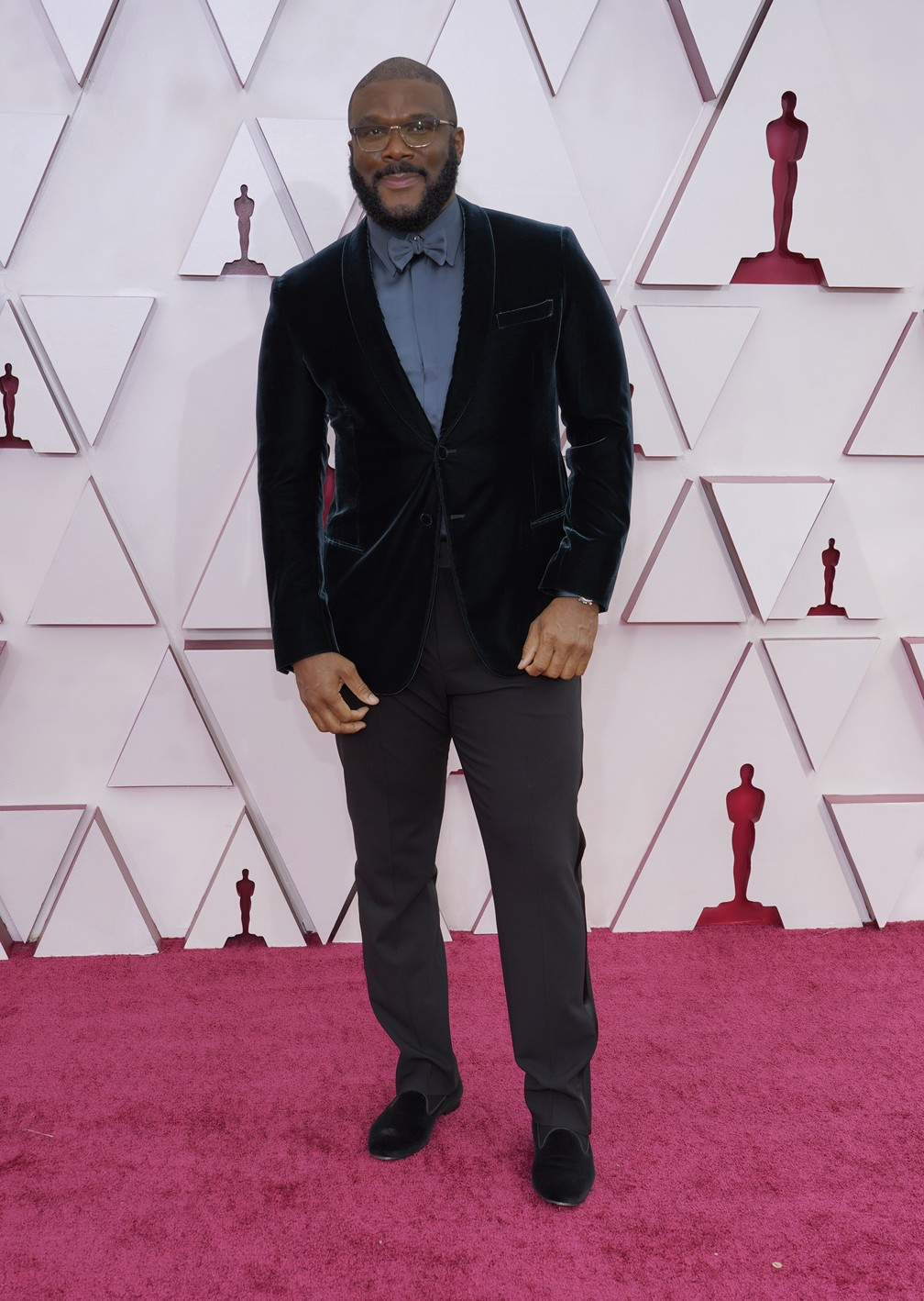 Tyler Perry no Oscar 2021 — Foto: AP Photo/Chris Pizzello