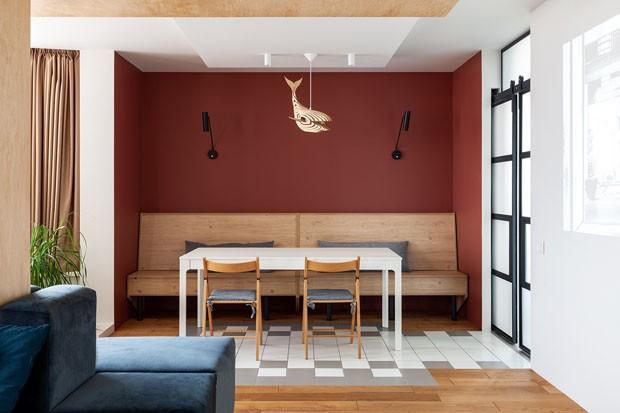 10 salas de jantar com banco: boa solução para apartamentos pequenos (Foto: Alexey Yanchenkov)