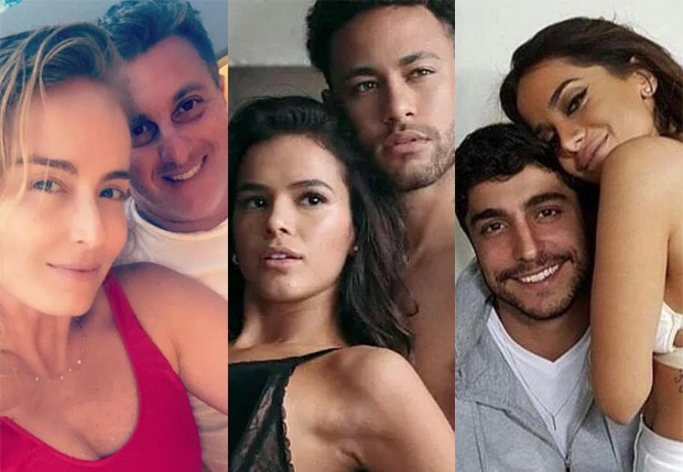 Angélica e Luciano Huck; Bruna Marquezine e Neymar; Anitta e Thiago Magalhães (Foto: Reprodução/Instagram)