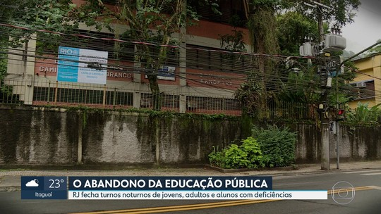 RJ fecha o turno da noite de escolas estaduais para jovens e adultos