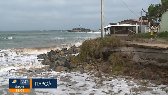 Defesa Civil nacional reconhece situação de emergência em Itapoá após ressaca
