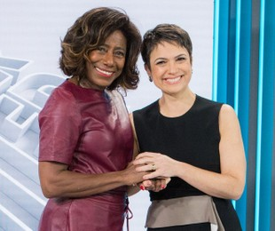 Gloria Maria e Sandra Annenberg | Raquel Cunha/TV Globo