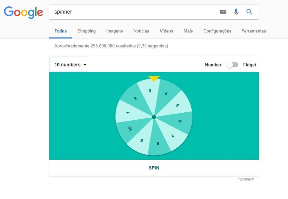 Roleta para sorteios é aberta direto no navegador do Google (Foto: Reprodução/Rodrigo Fernandes)