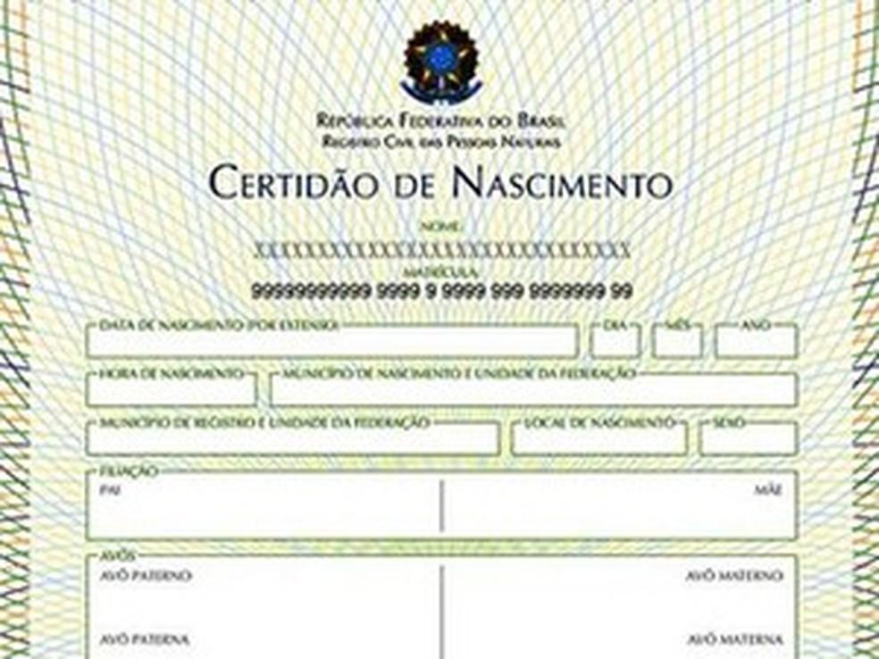 Certidão de nascimento terá o número do CPF a partir de agora — Foto: Divulgação