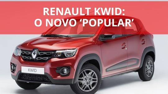 Renault Kwid tenta resgatar conceito de carro 'popular'; compare com rivais