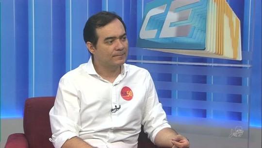 Ailton Lopes, candidato ao governo do CE, é entrevistado no CETV 1ª Edição