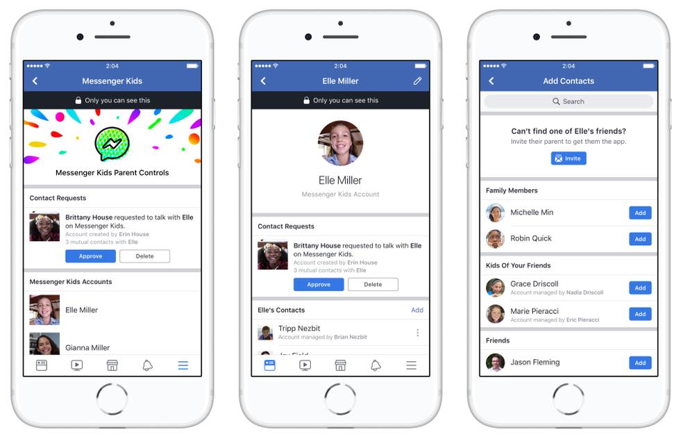 Messenger Kids, app de bate-papo do Facebook para crianças menores de 13 anos. (Foto: Divulgação/Facebook)