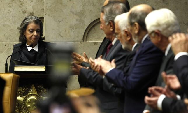 Carmen Lúcia na sua posse como vice-presidente do STF, em 2014