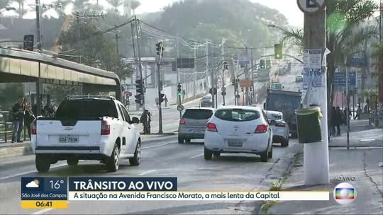 O trânsito na Avenida mais lenta de São Paulo