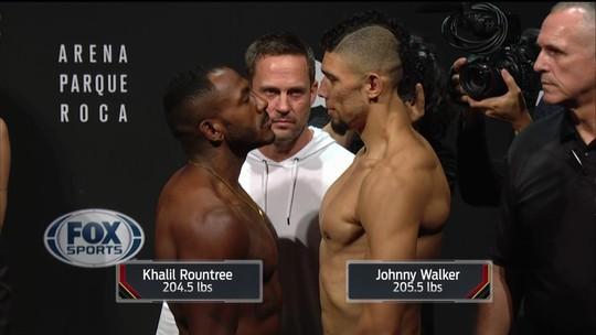 Khalil Rountree e Johnny Walker passam pela pesagem do UFC Buenos Aires