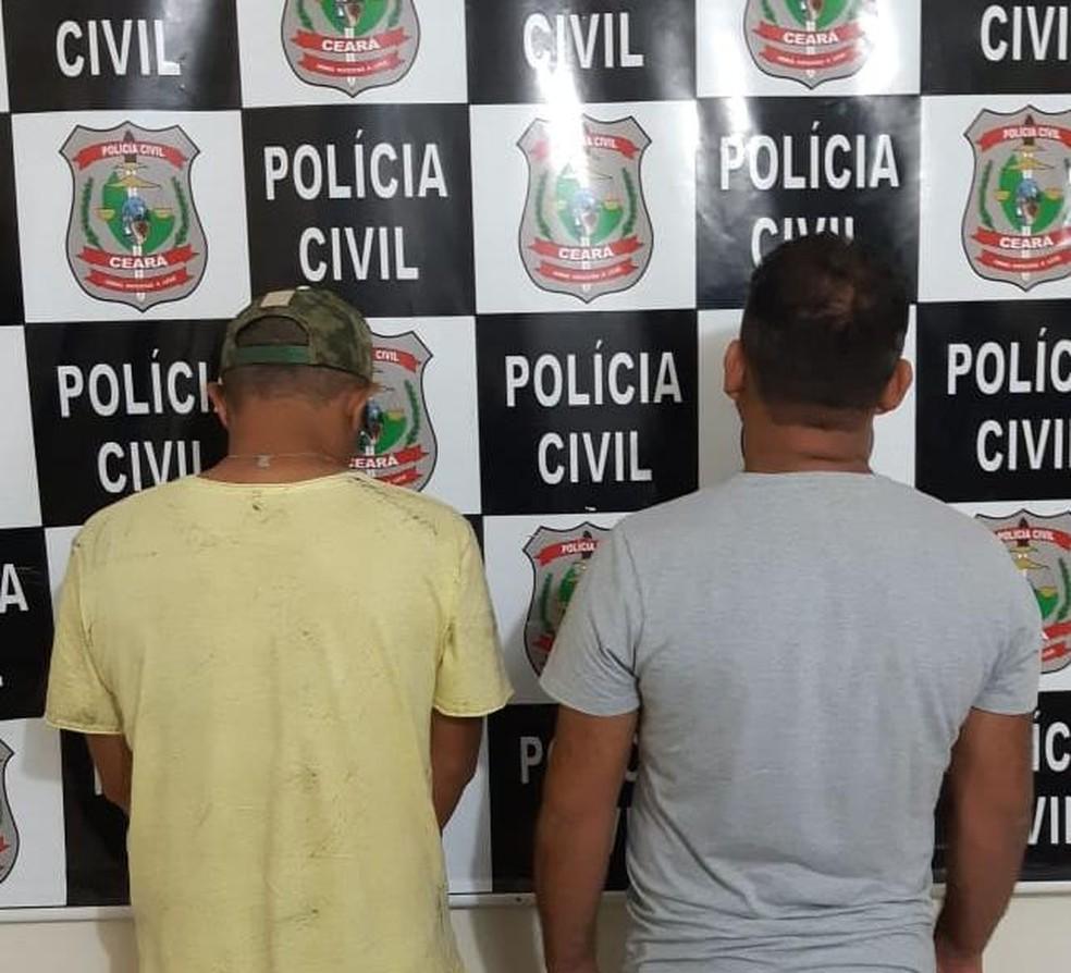Dois dos sete presos na operação Marulhos em Cascavel neste domingo (15) — Foto: Polícia Civil/Divulgação