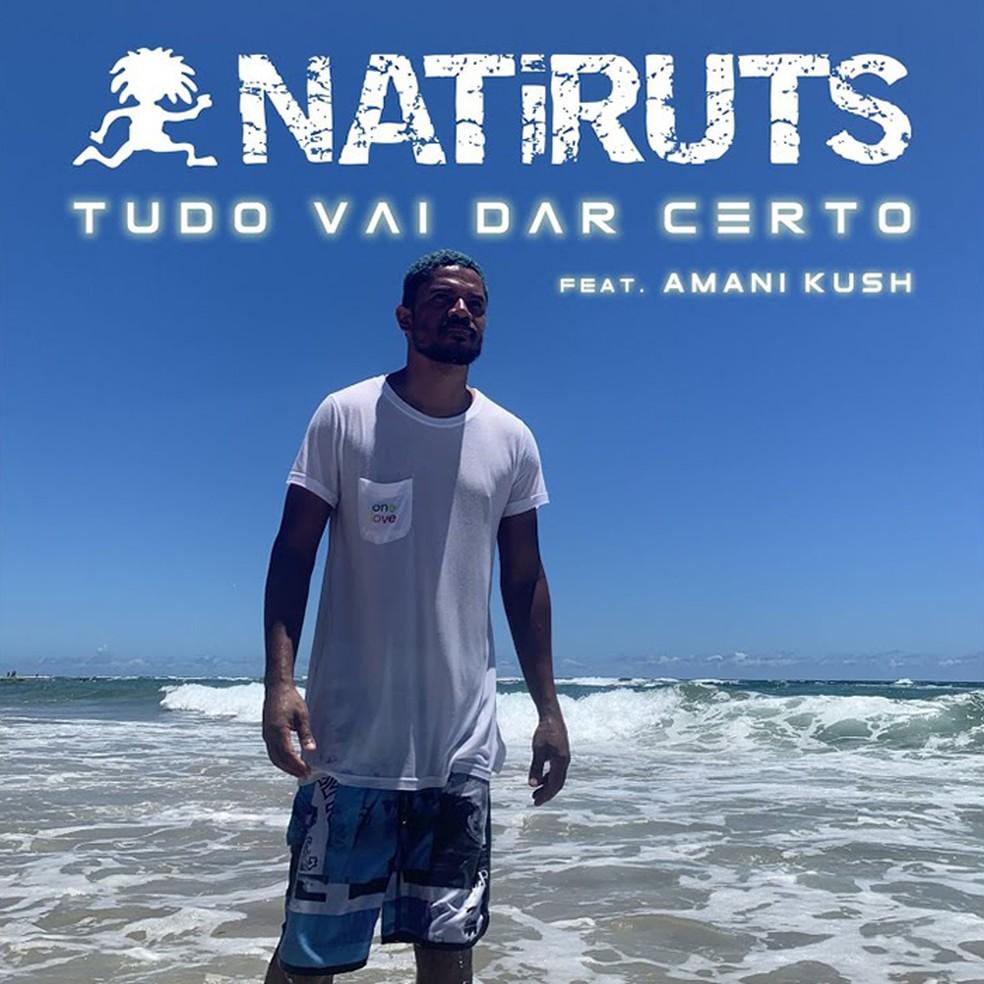 Capa do single 'Tudo vai dar certo', de Natiruts com Amani Kush — Foto: Divulgação